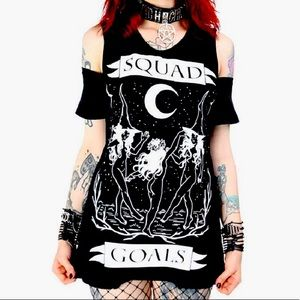 Restyle Brand Witchy Cold Shoulder Tee